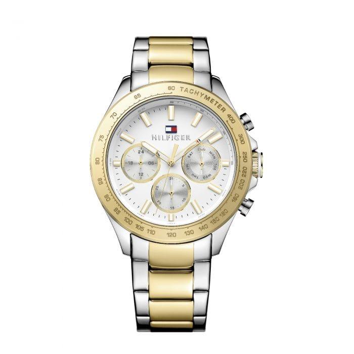 Hudson White Steel & Gold Watch