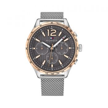 TOMMY HILFIGER Gavin Grey Rose Gold & Steel Mesh Watch