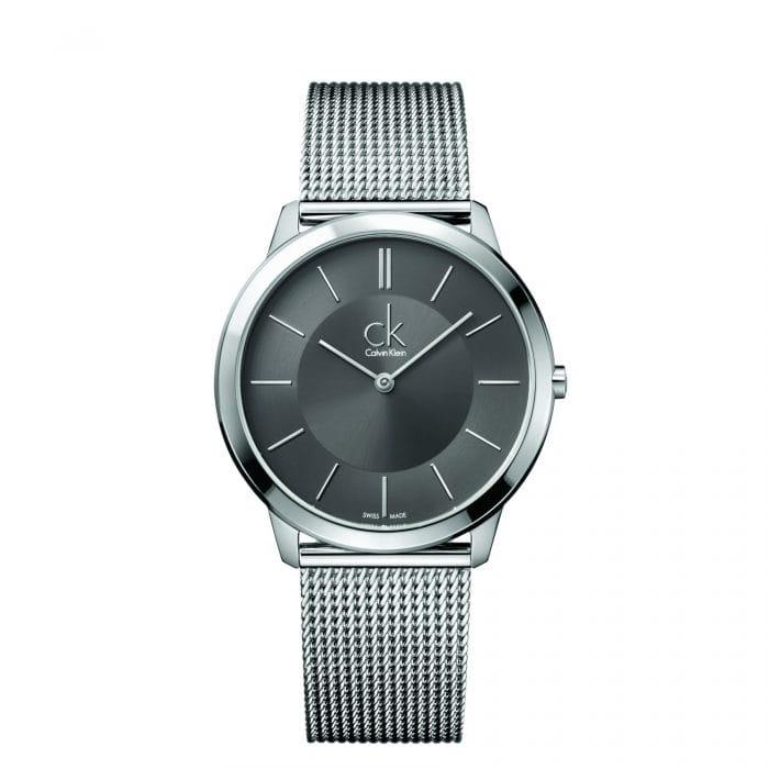 CALVIN KLEIN Minimal Men's Dark Grey Mesh Watch