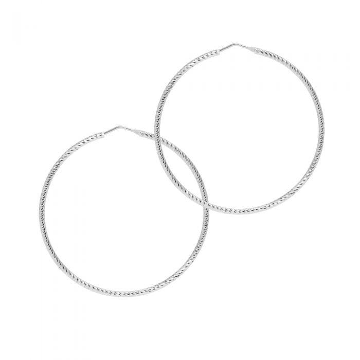 THE HOOP STATION La ROMA Silver Hoop Earrings - 63mm