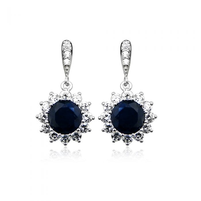 Grace & Co HOPE Sapphire and Silver Earrings