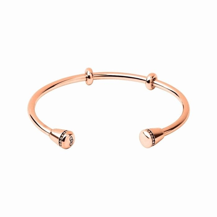 Links of London Amulet Rose Gold Charm Cuff Bangle
