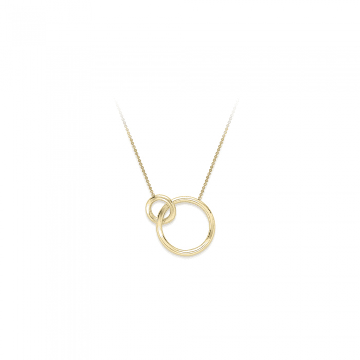 Grace & Co LOVE 9ct Yellow Gold Interlocking Hoops Necklace