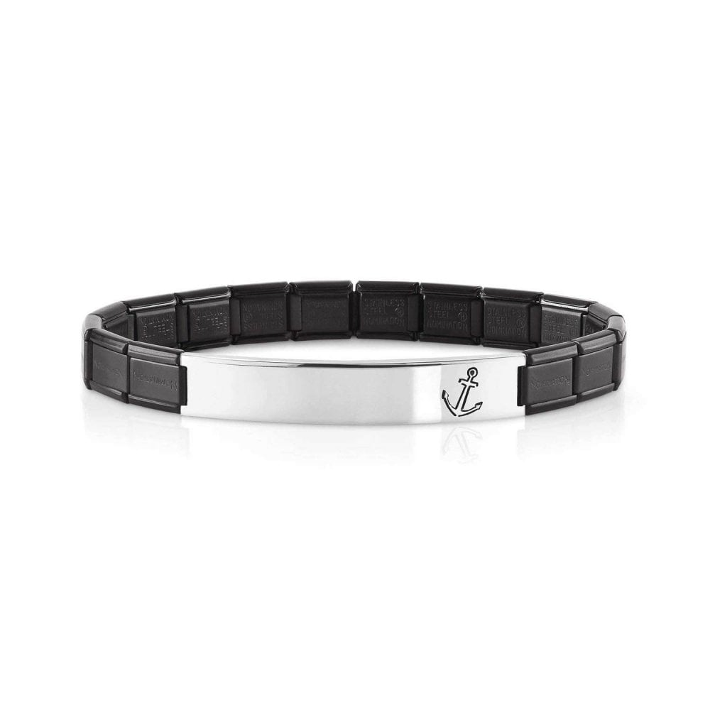 NOMINATION Black Trendsetter Bracelet With Anchor Detail
