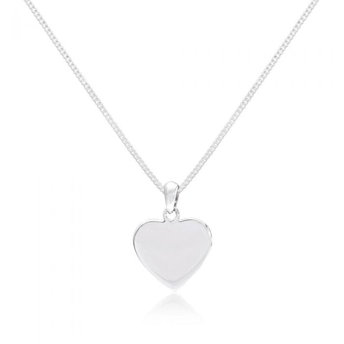 Scribble Engravable Silver Heart Pendant