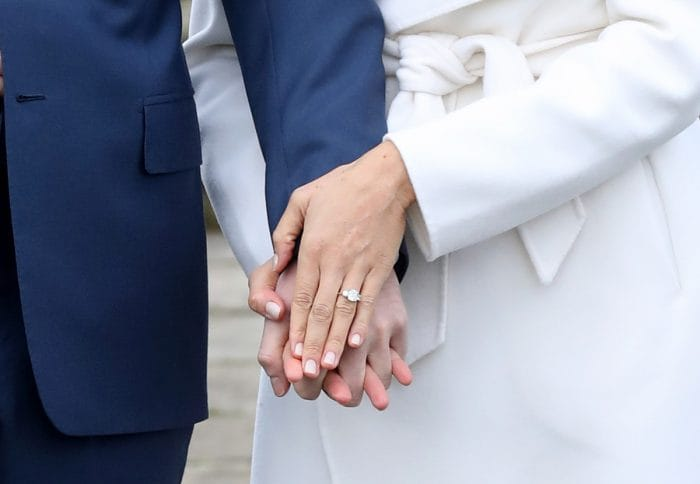 The Duke and Duchess of Sussex on 19th May 2018 on their wedding day.