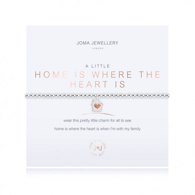 A Little Home Is Where The Heart Is Bracelet from Joma Jewellery - A great gift idea for the home-loving Mum.