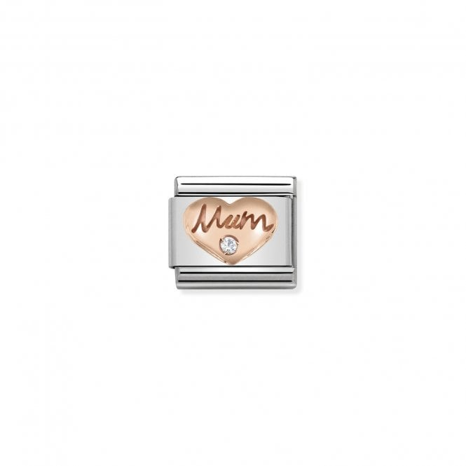 You will never go wrong with a Rose Gold Mum Nomination Charm engraved with a sparkling CZ stone.