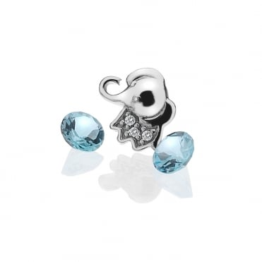 Silver Elephant Nature Locket Charms