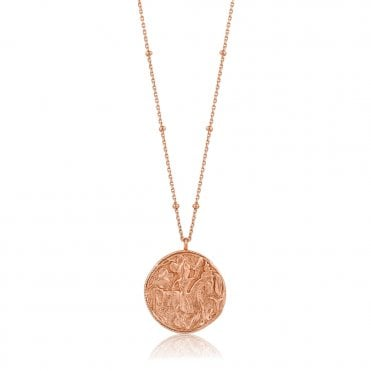 Coins - Greek Warrior Necklace in Rose Gold
