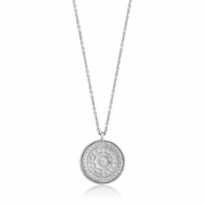 Ania Haie Coins - Verginia Sun Necklace in Rhodium Silver