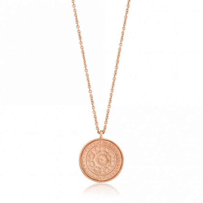 Ania Haie Coins - Verginia Sun Necklace in Rose Gold