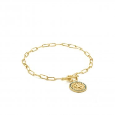 Gold Digger - Emperor T-Bar Bracelet in Yellow Gold