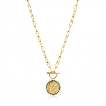 Gold Digger - Emperor T-Bar Necklace in Yellow Gold