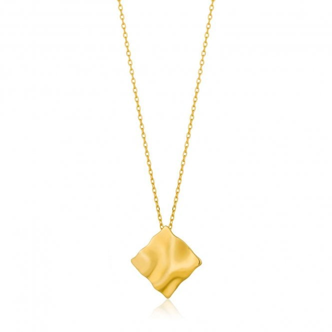 Ania Haie Metal Crush - Crush Square Necklace in Yellow Gold