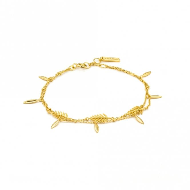 Ania Haie Tropic Thunder - Tropic Double Bracelet  in Yellow Gold
