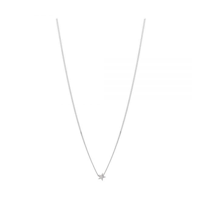 Annie Haak Tiny Silver Boxed Star Necklace
