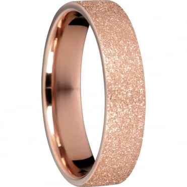 Sparkling Rose Gold Ring - Broad Inner 8