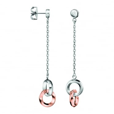 Beauty Rose Gold Drop Earrings