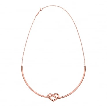 Charming Rose Gold Choker Necklace