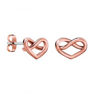 Charming Rose Gold Stud Earrings