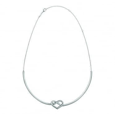 Charming Silver Choker Necklace