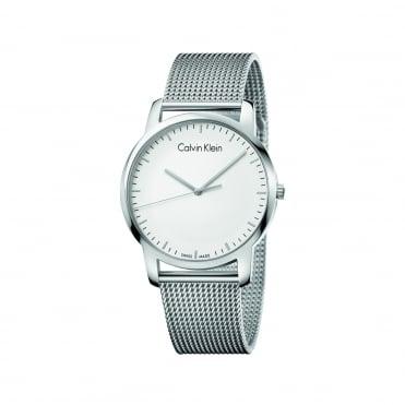 City Silver & Silver Mesh Men's Watch