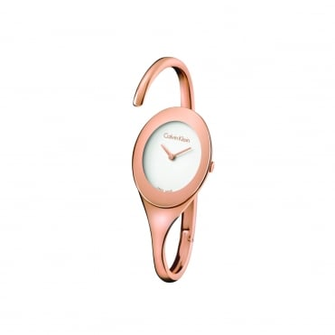 Embrace Rose Gold & Silver Ladies Bangle Watch