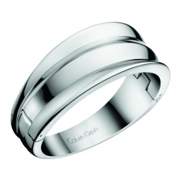 Glorious Silver Closed Bangle, M