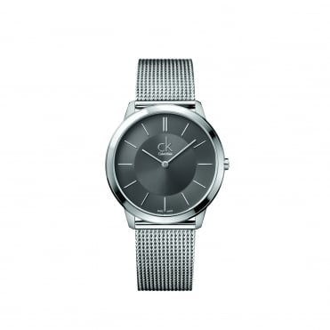 Minimal Dark Grey Mesh Men's Watch