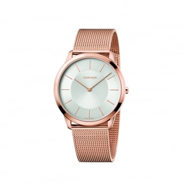 Minimal Rose Gold & Silver Mesh Watch