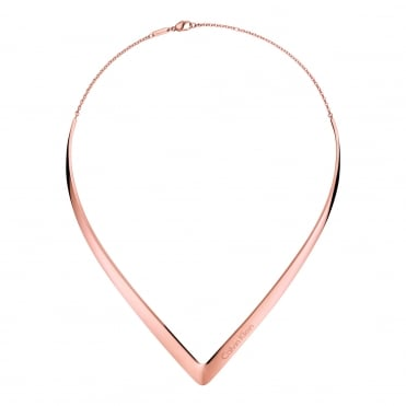 Outline Rose Gold Choker Necklace