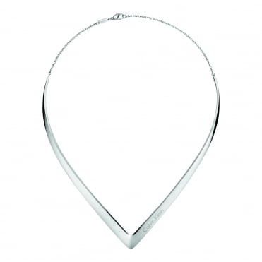 Outline Silver Choker Necklace