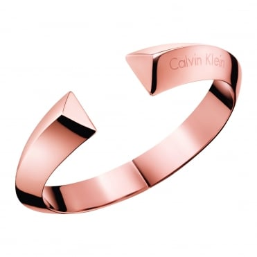 Shape Rose Gold Closed Bangle, M