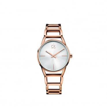 Stately Rose Gold & Silver Ladies Watch