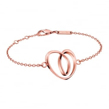 Warm Rose Gold Heart Bracelet