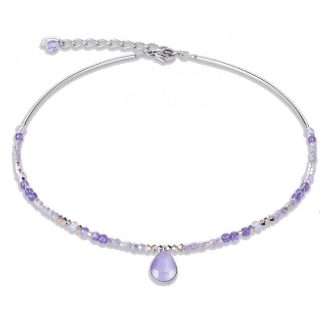 Coeur de Lion Amethyst Lilac Teardrop Necklace