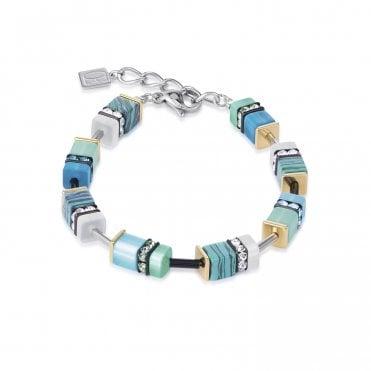 cc675f5cf GeoCUBE Aqua Blue and Turquoise Green Crystal Bracelet · Coeur de Lion ...