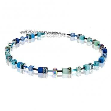 55be1a121 GeoCUBE Mixed Blue Crystal Necklace · Coeur de Lion ...
