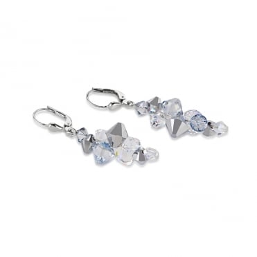 Ice Blue Crystals Earrings
