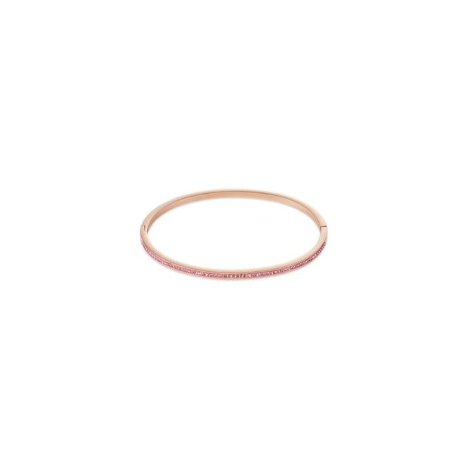 Coeur de Lion Rose Gold and Pink Crystal Bangle