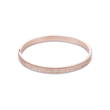 Rose Gold Clear Crystal Bangle