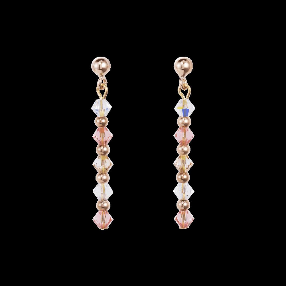 c1944ac0fc25d Rose Gold & Pink Swarovski Crystal Drop Earrings