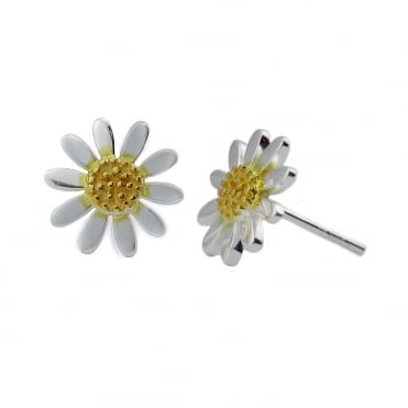 Silver and Gold 9mm Stud Earrings