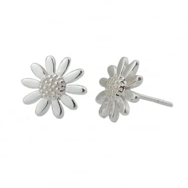 Silver Stud Earrings, 9mm