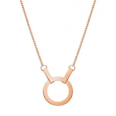 Kali Rose Gold Short Pendant Necklace