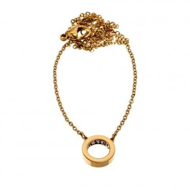 Monaco Mini Short Gold and CZ Necklace