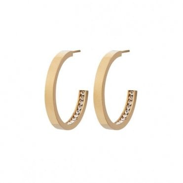 Monaco Small Gold Plated Steel Hoop Earrings