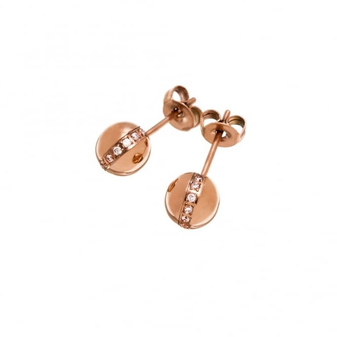 Edblad Platon Rose Gold Stud Earrings