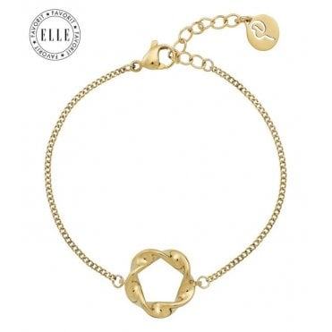 Twister Swirl Bracelet in Gold Plated Steel